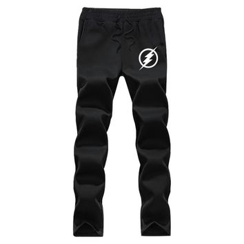 The  Flash  winter fleece Casual pants men comfortable sweatpants jogger pants Asian size