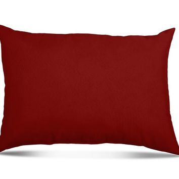 "Stratford Home Indoor/Outoor Solid Color 12""x20"" Throw Lumbar Pillows, Lipstick"