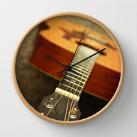 music is the art of thinking with sounds Wall Clock by Sylvia Cook Photography