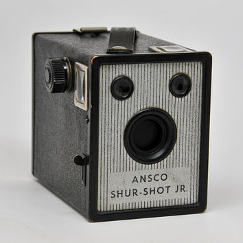 ANSCO Shur Shot Jr 120 Box Camera, Working Vintage Camera