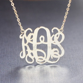 Initial Necklace - Name Necklace - Monogram Necklace - Silver Name Necklace - Bridesmaids Gift - Gift For Mom