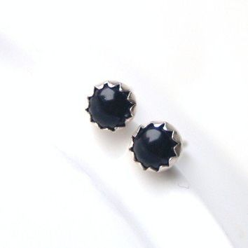Black Onyx Earrings by proteales on Etsy