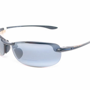 Maui Jim Makaha G805 Gloss Black Bifocal Readers Polarized Sunglasses