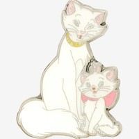 Disney The Aristocats Marie And Duchess Cuddle Enamel Pin