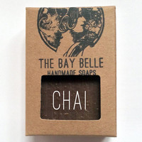 Chai Soap - Organic Homemade Soap - Artisanal Vegan Handmade Soap - Spicy Scented - Natural Gift - For Him - For Her - Spa Gift Favors -
