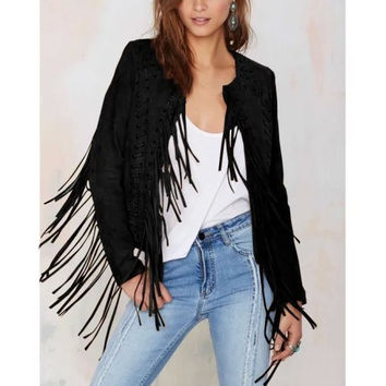 Brand New Black Rocker Hippy Cool Light Jacket, All Sizes