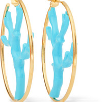 Aurélie Bidermann - Capri gold-plated resin hoops
