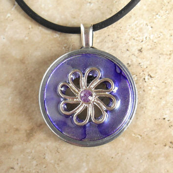 Flower Necklace: Violet - Unique Jewelry - Summer Jewelry - Pendant Necklace - Hippie Jewelry - Flower Jewelry - Boho Jewelry