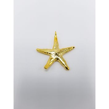 Real Starfish Pendant Rose Gold, White Gold , 14K Gold Plated