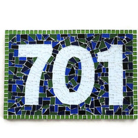 House Number Sign, Mosaic Address Plaque