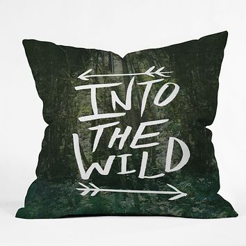 Leah Flores Into The Wild Throw Pillow