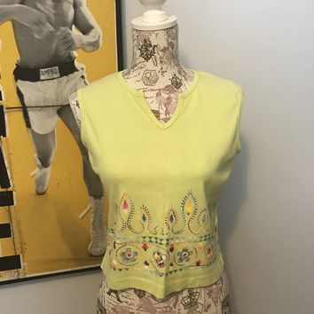 No Boundaries Spring Lime Crop Top