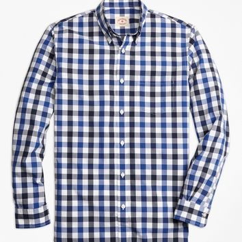 Gingham Broadcloth Sport Shirt - Brooks Brothers