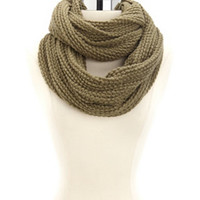 SOLID OPEN-KNIT INFINITY SCARF