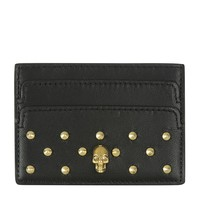 Alexander McQueen Studded Skull Card Holder | Harrods