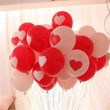 Lovely Lover's Gift Heart Print Latex Balloons Kids Classic Toys Wedding Birthday Home Rome Decoration Latex Balloons Sport Toys