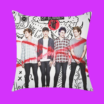 5 Second of summer - Pillow Case, Rectangle Pillow One Side/Two Sides.