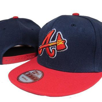 ESBON Atlanta Braves New Era MLB 9FIFTY Hat Blue-Red