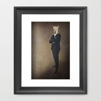 Funny Lama *** SUIT - NO TIE! *** Framed Art Print by M✿nika  Strigel	 | Society6 in different sizes and posters! Pillow and iphone availab