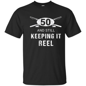 Funny Fishing 50th Birthday Gift Fisherman Shirt 50 Year Old
