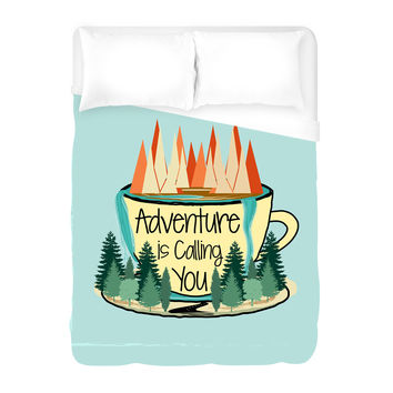 Adventure is Calling Duvet Cover