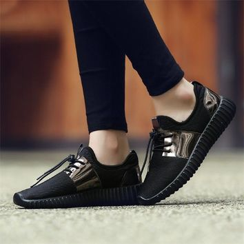 Merkmak Shoes's Men 2017 Couple Superstar Air Mesh Unisex Casual Shoes Summer Fashion Glitter Breathable Durable Flats Sapatos