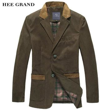 HEE GRAND Men's Casual Blazers Hot Sale Leisure Suit Fashion Slim Fitting Blazers Single Breasted Costume Homme MWX351