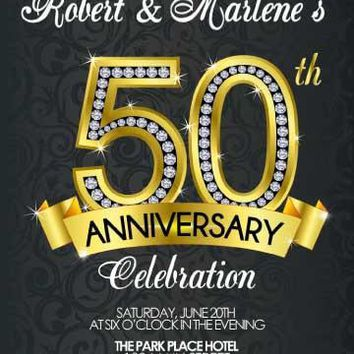 Diamond 50th Anniversary Invitation