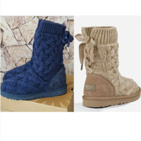 """UGG"" female fashion wool snow boots wool shoes (4-Color)"
