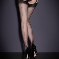 Black Valentine's Gifts by Agent Provocateur - Seam & Heel Stockings