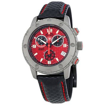 Swiss Military Rallye GMT Red Dial Chronograph Mens Watch 27481
