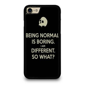 NORMAL IS BORING QUOTES iPhone 7 Case Cover