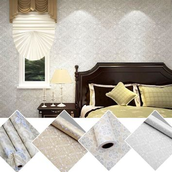 Flowers European Modern Self Adhesive Wallpaper For Lliving Room Home Decor Wall Paper Roll 3D Wall Murals Wall-Covering