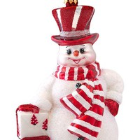 Christopher Radko 'Prince Frost' Handcrafted Glass Snowman Ornament