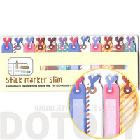 olorful Gift Tags Shaped Memo Pad Post-it Index Sticky Bookmark Tabs | Cute Affordable Back To School Stationery Supplies