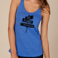 Beastie Boys No Sleep Til Brooklyn Girls Ladies Heathered Tank Top Shirt silkscreen screenprint Alternative Apparel
