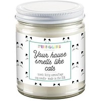 Your House Smells Likes Cats Candle
