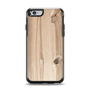 The LIght-Grained Wood Apple iPhone 6 Otterbox Symmetry Case Skin Set