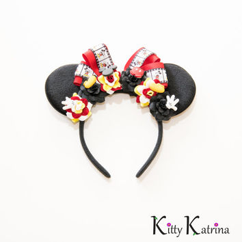 Classic Mickey Mouse Ears Headband, Disney Ears, Classic Mickey Mouse, Mouse Ears Headband, Disney Bound, Disneyland, Disney World