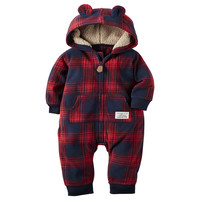 Retail,  baby boy girl clothes kids bebes one piece Girls rompers with has , bebe girl winter  romper hooded newborn