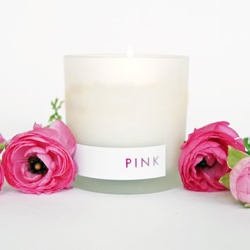 PINK Natural Soy Candle, 8oz