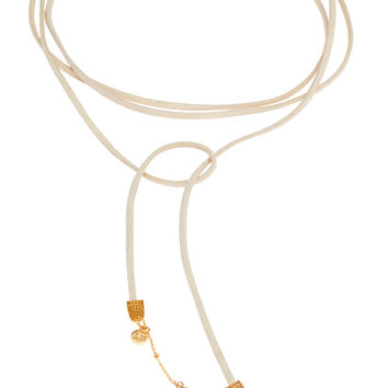Geo-Gem Wrap Necklace - Ivory Moon