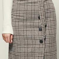 Be A Boss Plaid Skirt (Brown)