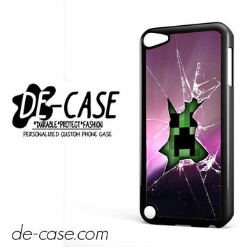 Creeper Minecraft Broken Glass Pink For Ipod 5 Case Phone Case Gift Present