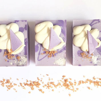 lavender +  clay handmade soap - handmade soap, natural soap, essential oil soap, relaxing soap, lavender soap,hand crafted soap, purple soa