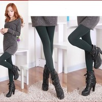 Womens Casual Thick Fur Warm Winter Leggings