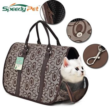 Luxury Dog Bag Pet Carrier For Puppy  Animals Kitten Cat Travel Breathable Handbag Foldable Bag For Dogs Accessories Supplies