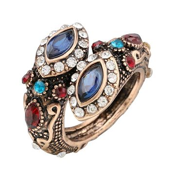 Unique Crystal Ring Color Ancient
