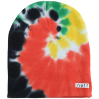 Neff Mens Hippie Tie-Dye Stocking Cap Beanie Hat