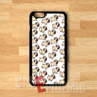 Pug Pattern - zDD for iPhone 4/4S/5/5S/5C/6/6+,Samsung S3/S4/S5/S6 Regular,Samsung Note 3/4
